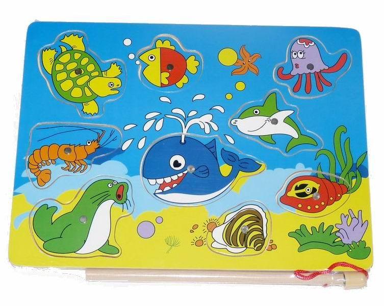 Деревянная игрушка Вудик Игра рыбалка 4471C