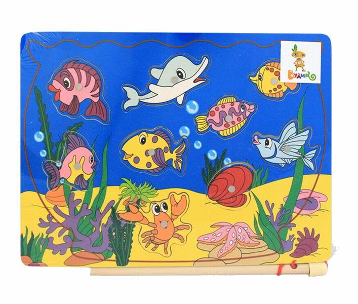 Деревянная игрушка Вудик Игра рыбалка 4890C