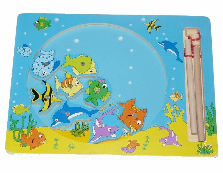 Деревянная игрушка Вудик Игра рыбалка 5218C