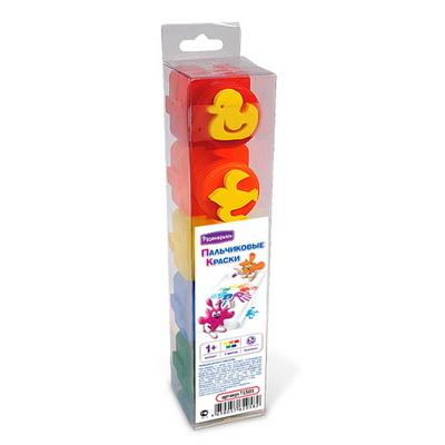 Краски Развивашки Пальчиковые краски 5 цв по 20 мл штампики