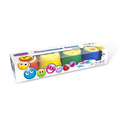 Краски Развивашки Пальчиковые краски 4 цв по 30 мл штампики Эмоции
