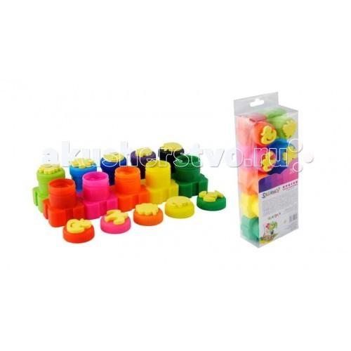 Краски Развивашки Пальчиковые краски 10 цв по 20 мл штампики Малыши