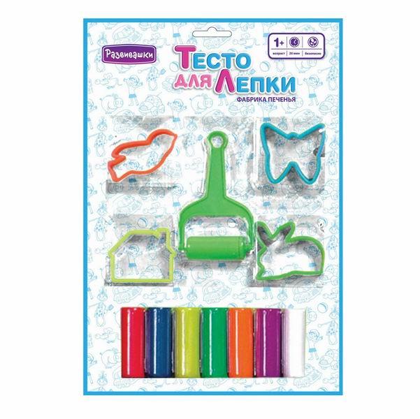 Купить Наборы для творчества Тесто для лепки Фабрика печенья 7 цветов  Наборы для творчества Развивашки