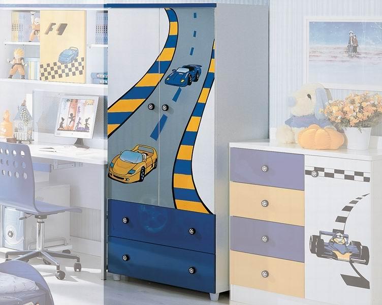 Шкафы Milli Willi F1 Blue двустворчатый