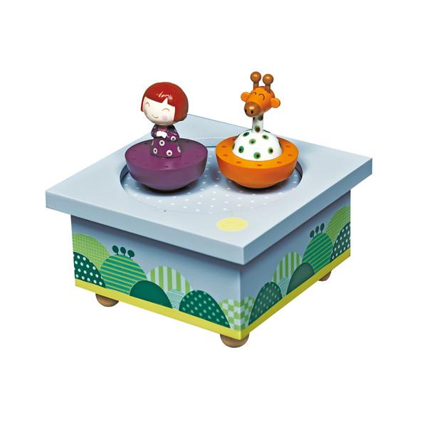 Trousselier Музыкальная шкатулка Wooden Box Ninon & Giraffe