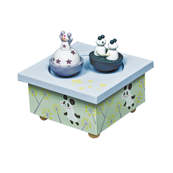 Trousselier Музыкальная шкатулка Wooden Box Девочка и панда
