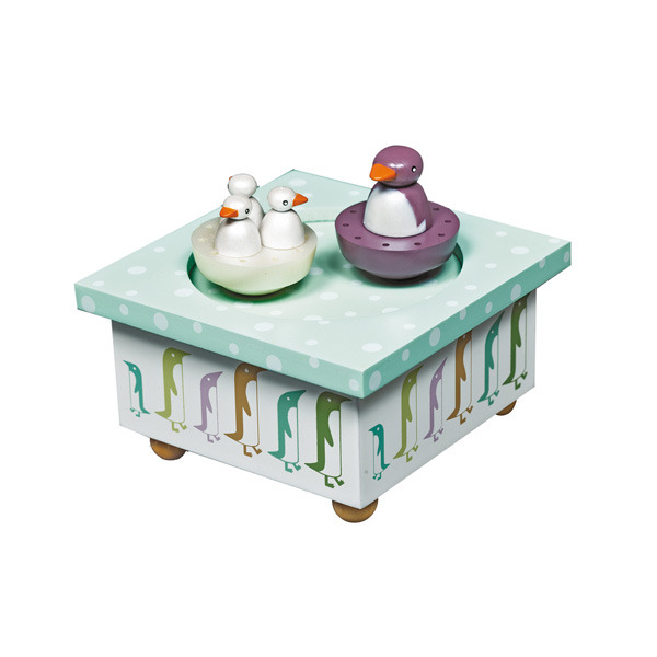 Trousselier Музыкальная шкатулка Wooden Box Пингвин