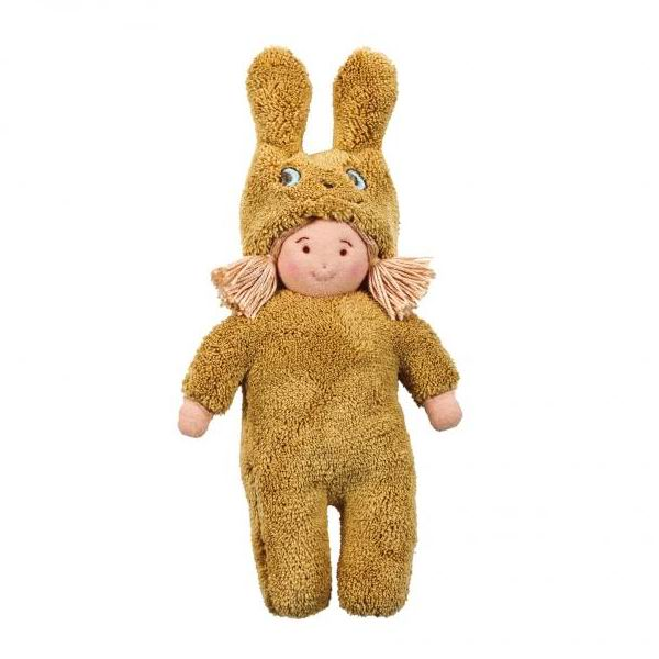 Trousselier Кукла Девочка в костюме кролика 22 смКукла Девочка в костюме кролика 22 смМягкая, тряпичная кукла Девочка в костюме кролика французской фирмы Trousselier, сшита из натурального хлопка.  Девочка одета в костюм кролика.   А небольшой размер позволит брать подружку всегда с собой.   Размер: 22 см. Материал: хлопок Советы по уходу: Возможна ручная стирка игрушки.  Французский бренд Trousselier вот уже более 40 лет создает уникальные коллекции детских игрушек, товаров для дома и интерьера. Вся продукция изготовлена из натуральных материалов с соблюдением высоких европейских стандартов качества.<br>