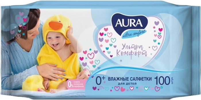 Aura Влажные салфетки для детей Ultra Comfort 100 шт.
