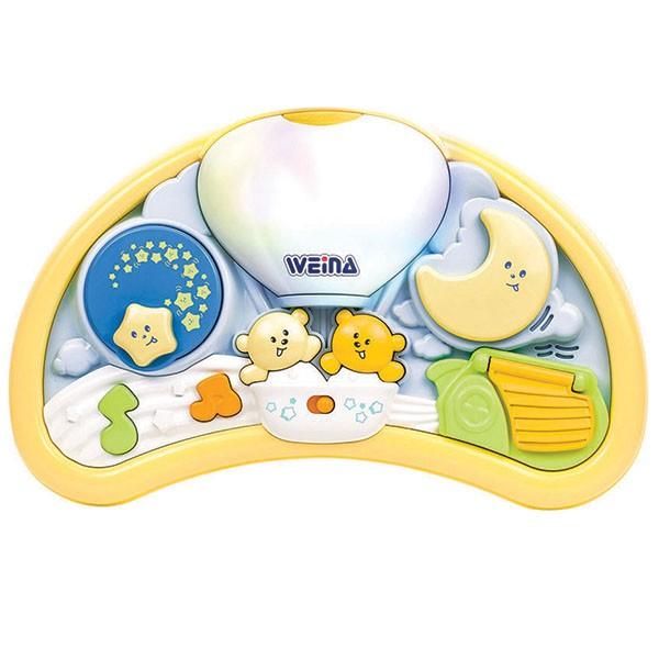 Подвесная игрушка Weina Мишки с музыкойМишки с музыкойПодвесная игрушка с функцией ночника и приятными мелодиями.  Специальное крепление на кроватку.  Поможет малышу заснуть за считанные минуты.<br>
