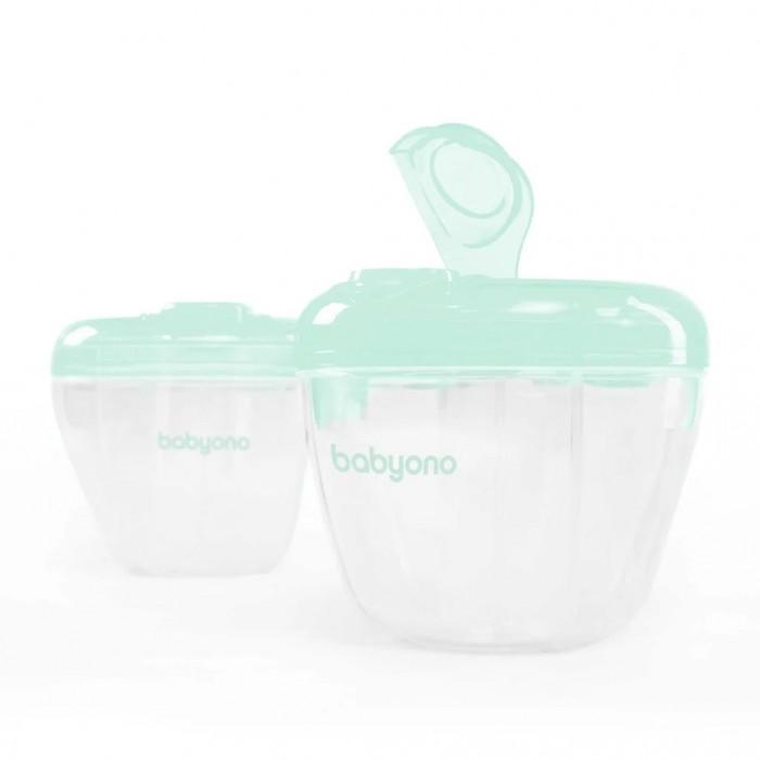 BabyOno Емкость для молочной смеси и пищевых продуктовЕмкость для молочной смеси и пищевых продуктовДозатор молочной смеси с 4-я отделениями BabyOno.  идеален во время путешествия или прогулок перед применением следует простерилизовать или промыть в кипятке изготовлен из специальных материалов предназначенных для контакта с пищевыми продуктами, не содержит Бисфенол А способ на хранение сухой молочной смеси в сухом и плотно закрытой емкости можно быстро и своевременно приготовить пищу при помощи специального дозатора, находящегося в крышке, легко пересыпать смесь в бутылку каждая секция может поместить порцию сухой молочной смеси (8 мер)<br>