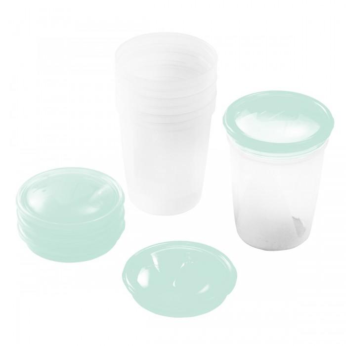 BabyOno Емкость для хранения молока 4 штЕмкость для хранения молока 4 штНабор контейнеров BabyOno для хранения грудного молока, в наборе 4шт. с крышечками.  Практичные и удобные: удобное хранение молочной смеси в сухой и плотно закрытой емкости возможность быстро приготовить пищу идеальная в поездке и на прогулке с помощью находящегося в крышке специального дозатора смесь легко пересыпать в бутылку не содержит бисфенола А  В комплекте: 4 ёмкости 4 крышки крышка с носиком  Вместимость 200 мл.<br>