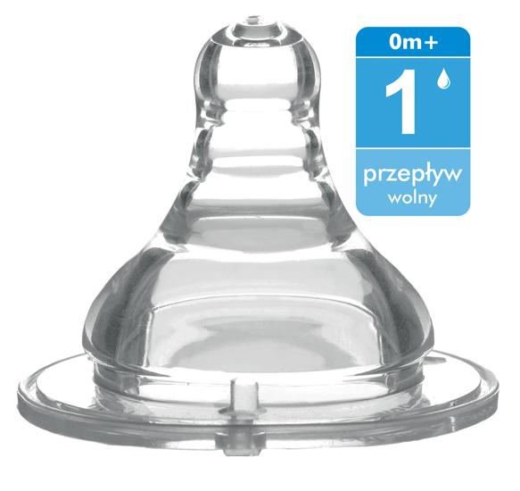 Соска BabyOno антиколиковая силикон с широким горлышком медленный поток