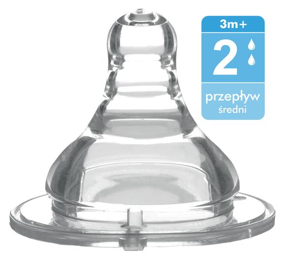 Соска BabyOno антиколиковая силикон с широким горлышком средний поток