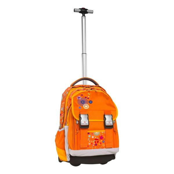 Портфели Take It Easy Рюкзак на колесах с телескопической ручкой Оранжевые цветы