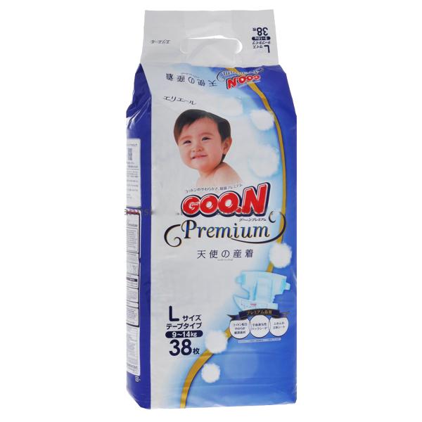 GooN Premium Подгузники L (9-14 кг) 38 шт.