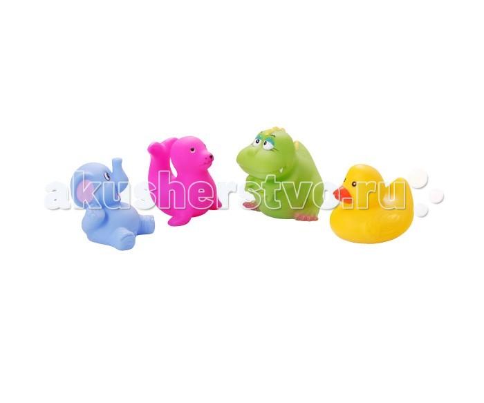 BabyOno Игрушки для ванной Животные маленькие 4 шт.Игрушки для ванной Животные маленькие 4 шт.Утка, слоник, крокодил и тюлень - четверо друзей, которые очень любят воду. Сделают приятным каждое купание! А благодаря интенсивным цветам легко отыщутся даже под толстым слоем пены.  Игрушки для ванной: четыре разноцветные фигурки интригуют ребёнка учат различать цвета и формы дают ребёнку возможность наблюдать за поведением предметов в воде небольшие по размеру, благодаря чему легко захватываются маленькими ручками игрушки для ванной не мешают в купании изготовлены из резины игрушки для ванной упакованы в практичный пластиковый пакет многоразового использования, закрывающийся на замок  В комплекте 4 игрушки.<br>