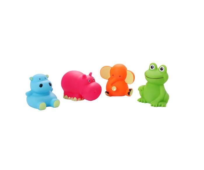 BabyOno Игрушки для ванной Животные средние 4 шт.Игрушки для ванной Животные средние 4 шт.Слоник, лягушка и два бегемотика - четверо резиновых друзей, которые очень любят воду. Сделают приятным каждое купание! А благодаря интенсивным цветам легко отыщутся даже под толстым слоем пены.  Игрушки для ванной: четыре разноцветные фигурки интригуют ребёнка учат различать цвета и формы дают ребёнку возможность наблюдать за поведением предметов в воде небольшие по размеру, благодаря чему легко захватываются маленькими ручками игрушки для ванной не мешают в купании изготовлены из резины игрушки для ванной упакованы в практичный пластиковый пакет многоразового использования, закрывающийся на замок  В комплекте 4 игрушки.<br>