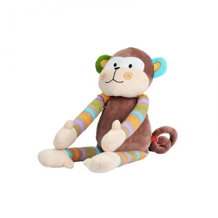 Мягкая игрушка BabyOno Обезьянка большаяОбезьянка большаяОбезьянка - это первый друг и товарищ вашему малышу. С ней весело играть даже самым маленьким деткам. Малыши постарше с удовольствием возьмут игрушку с собой в кроватку, т.к. она выполнена из мягкого, уютного материала. С Обезьянкой можно поиграть в первые сюжетно-ролевые игры, пусть даже игра будет совсем незатейливой.  Характеристики: ребенок учится координировать свои действия у крохи развивается мелкая моторика и тактильное восприятие у малыша активно развивается зрение формирует эмоциональное и социальное развитие напоминающие животных формы игрушек вызывают интерес и привлекают внимание ребёнка способствует играм и обучению внутри игрушки находится погремушка<br>