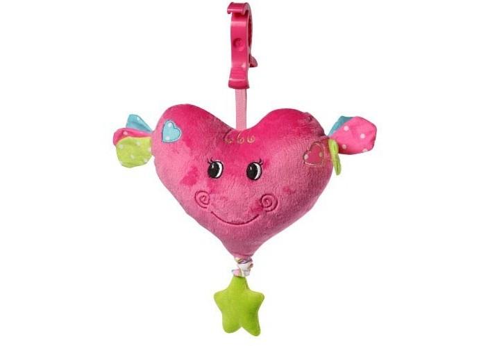 Подвесная игрушка BabyOno СердцеСердцеЯркая и функциональная музыкальная игрушка Сердце, неповторимый дизайн подарит массу положительных эмоций Вашему малышу! Оригинальное исполнение игрушки привлечет внимание крохи. Игрушку легко разместить практически в любом месте времяпрепровождения ребенка, будь то кроватка или манеж, коляска или автокресло! Изучать элементы, из которых состоит игрушка, невероятно интересно.   Особенности подвески: качественные материалы изготовления красочный и яркий дизайн крепится к любому типу коляски и кроватки посредством большого пластикового карабина оригинальное исполнение разнофактурные материалы звуки мелодии развивают способность различать силу звука  Польза и развитие: Занимаясь с подвеской, ребенок будет развивать сенсомоторные навыки, хватательный и удерживающей рефлекс, зрительную координацию, восприятие цветов и форм.  Размер без крепления - 20 см, с креплением - 30 см<br>
