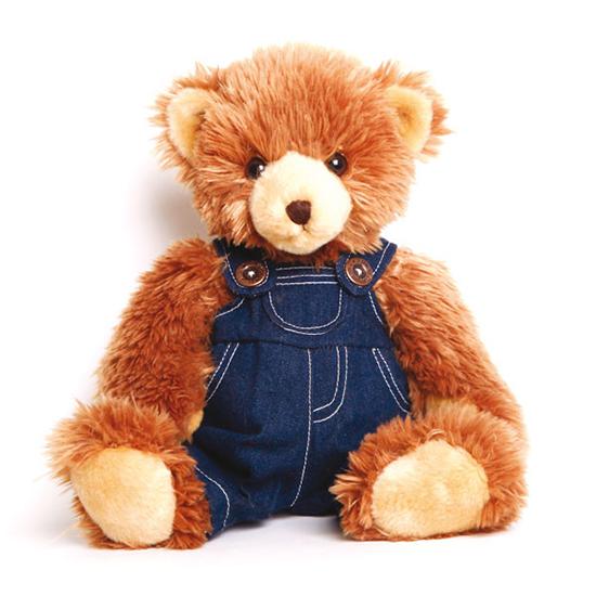 Мягкие игрушки Gulliver Мишка в джинсовом комбинезоне 35 см
