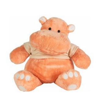 Мягкие игрушки Gulliver Бегемот Персик в майке 40 см