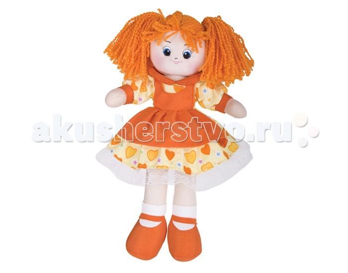 Gulliver Кукла Апельсинка в платье с сердечкамиКукла Апельсинка в платье с сердечкамиКукла Gulliver Апельсинка в платье с сердечками - яркий и желанный выбор для любой девочки. Мягкая кукла особенно понравится маленьким девочкам, ведь она не только яркая и красивая, но и приятная на ощупь, без острых углов и элементов.   Не деформируется и не теряет внешний вид при машинной стирке.  Высота: 40 см<br>