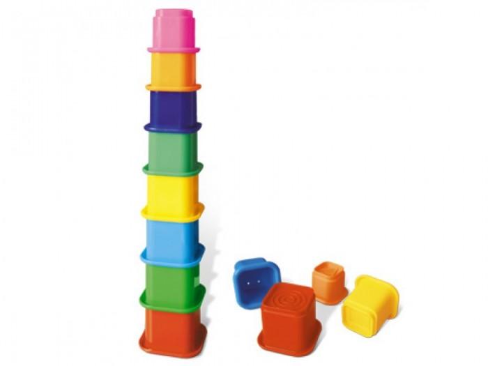 Развивающая игрушка Стеллар Пирамида Занимательная 2Пирамида Занимательная 2Развивающая игрушка Стеллар Пирамида Занимательная 2 изготовлена из безопасно экологически чистого пластмасса. Яркие цвета привлекут внимание вашего малыша и не позволят ему скучать.   Пирамидка собирается из 8 стаканчиков: красный, желтый, оранжевый, розовый, голубой, синий, свело- и темно-зеленый. В основании каждого стаканчика предусмотрены рифленые геометрические контуры (ромб, круг, квадрат) и дырочка, через которую можно выливать воду.   С помощью данной пирамидки ребенок учится различать цвета, определять форму и распознавать размеры предметов.<br>