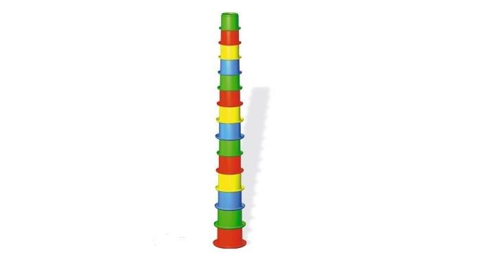 Развивающая игрушка Стеллар Пирамида Занимательная большаяПирамида Занимательная большаяРазвивающая игрушка Стеллар Пирамида Занимательная большая изготовлена из безопасно экологически чистого пластмасса. Яркие цвета привлекут внимание вашего малыша и не позволят ему скучать.   В комплекте 14 стаканчиков семи цветов. Очень многофункциональная игрушка. Пирамидку можно собирать по-разному: устанавливая стаканчики один на другой или же вкладывая их друг в друга. Кроме того, набор можно использовать в песочнице, на пляже и в ванне.  Когда малыш собирает пирамидку, он совершенствует свою мелкую моторику, координацию движений, развивает логическое мышление, а также учится различать цвета и адекватно воспринимать форму и размеры предмета.<br>
