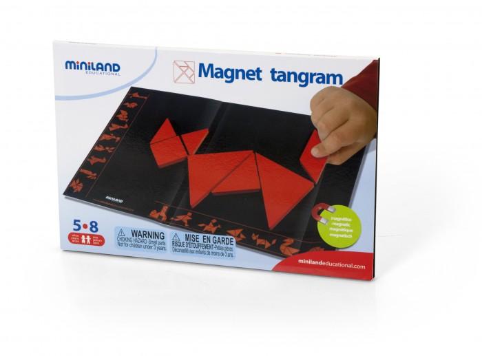 Развивающая игрушка Miniland Танграм магнитныйТанграм магнитныйКонструктор пластмассовый Танграм, в контейнере Плоские разноцветные пластмассовые геометрические детали позволят складывать удивительные фигурки, как в оригами, только намного проще!   Традиционная китайская игра, которая заключается в создании узнаваемых фигур из 7 основных фигур.   Идеально подходит для стимулирования творчества и способствует пространственному восприятию.  Характеристики набора: Комплектация: металлическая доска (32х21 см), магнитные карты. Материал: металл, магнит.<br>