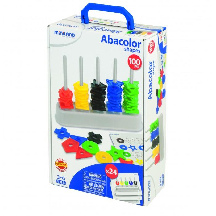 Развивающая игрушка Miniland Обучающий набор Цветной счет 100 деталейОбучающий набор Цветной счет 100 деталейЭта игрушка развитию мелкой моторики рук, а также развивает логическое мышление. Разноцветные детали позволят малышу быстрее выучить цвета, а так же научиться считать.  Дополнительная информация: 10 видов Форм х 10 разных цветов (100 деталей) 24 рисунков с инструкцией<br>
