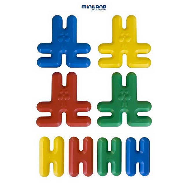 Игры для малышей Miniland Развивающая цепь Кролики 8 элементов