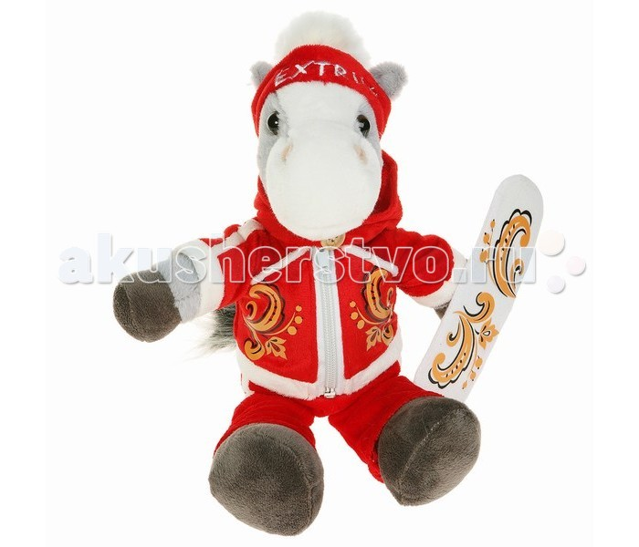 Мягкая игрушка Button Blue Коник-сноубордист Гордей 22 см