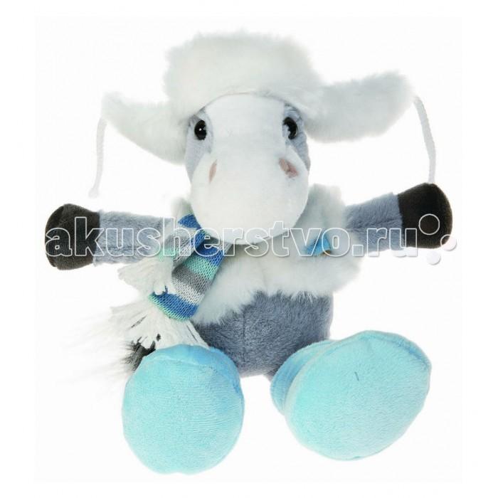 Мягкая игрушка Button Blue Коник Гаврик в ушанке 22 см