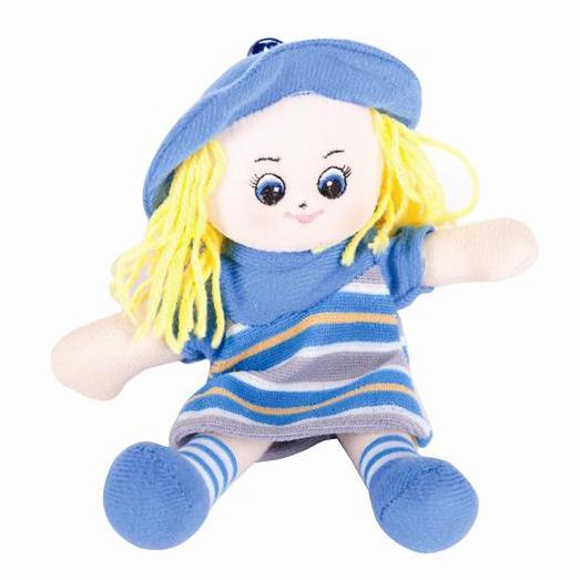 Gulliver малышка в голубом платье 20 см
