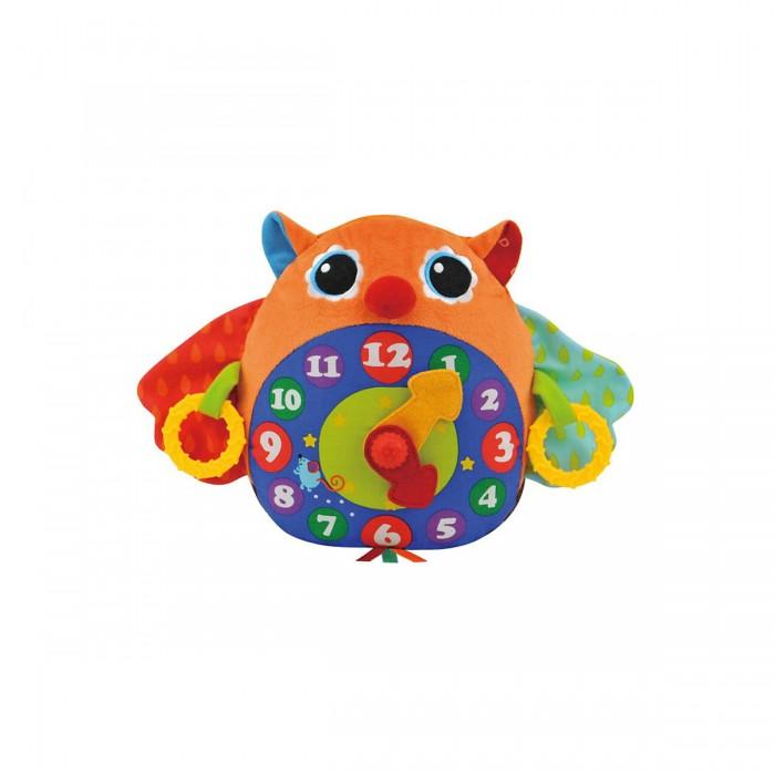 Развивающая игрушка KS Kids Часы-СоваЧасы-СоваМузыкальная Сова-часы из разнофактурного материала с шуршалками и щёлкающим механизмом.   Если потянуть одновременно за кольца слева и справа, то раздастся мелодия с тиканьем часов, всего 3 мелодии.   Поможет выучить время.   Размер (шхвхд) 35х23х13 см Материал: ткань(65% полиэстер, 35% хлопок), электронные компоненты.<br>