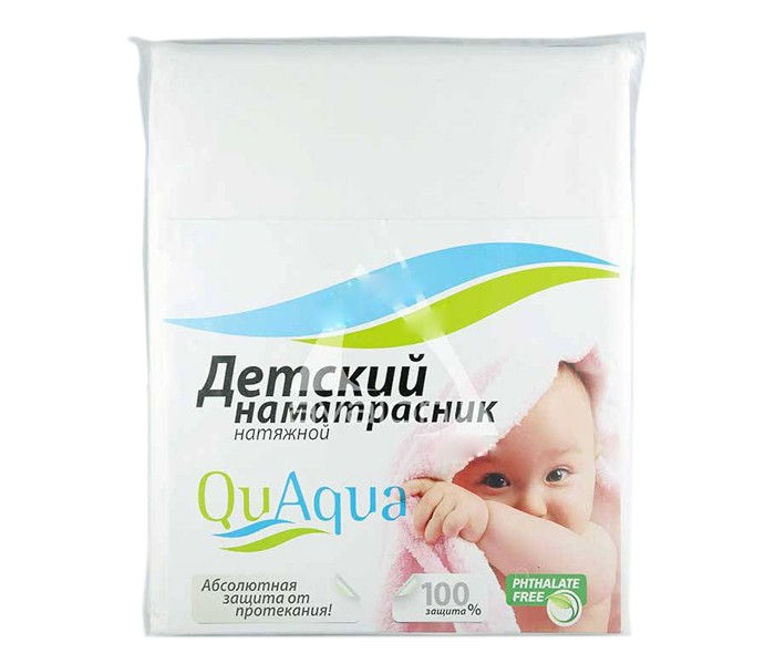 Qu Aqua Непромокаемый наматрасник натяжной Jersey (хлопок) 120х60