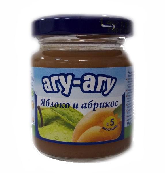 Пюре Агу-Агу Пюре Яблоко и абрикос с 5 мес. 100 г