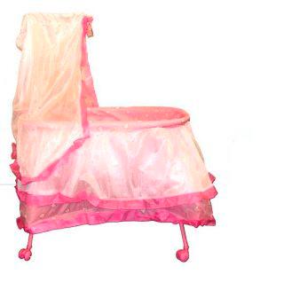 Игрушечные кроватки Mary Poppins с балдахином на колесах 62 см