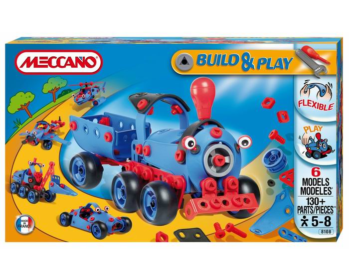 Конструкторы Meccano Build&Play Поезд 6 моделей