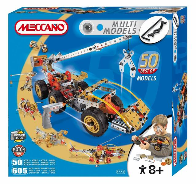 ������������ Meccano - MeccanoMultimodels ����-����������� 50 ���������������� Multimodels - ��� ������ ������������ �� ����������� � ������������� �������, ������� ��������� ��������� ����������� ���������� �������!   � ����� ����� ������ ������ �������������� ��� �������� ������� ������, ��������, ��������, �����, ������ ������ � ������ ������. ���� ���������� ��� ���������� ��������� ��������� ������������ ������� � ����������.   ����� ����� ����� 6V � �����������������.  � ���������: 605 �������, ����������� ��� ������<br>