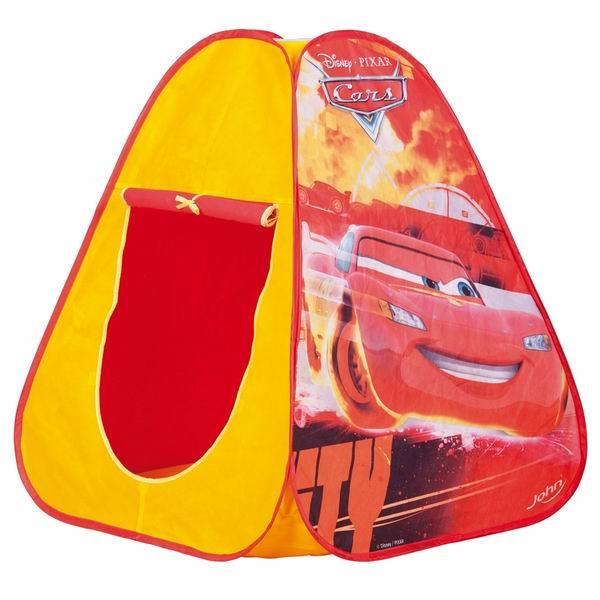 John Игровая палатка Тачки 75х75х90 смИгровая палатка Тачки 75х75х90 смДетская палатка для игр в саду, защищает от солнца и небольших атмосферных осадков. Удобно и быстро собирается и разбирается, имеет водоотталкивающую наружную ткань и пол из прочного синтетического материала. Свободностоящая конструкция с проветриваемым верхом не требует дополнительных растяжек или колышков, поэтому ее легко можно собрать и в помещении. Палатка украшена снаружи изображениями героев популярного мультфильма.   Особенности: Наверху сетчатый участок для вентиляции, который при необходимости легко закрыть Вход в палатку может быть открытым благодаря креплениям-ленточкам Подходит для игры в помещении и на улице Легкая в уходе и хранении  Размеры товара: 75 х 75 х 90 см<br>