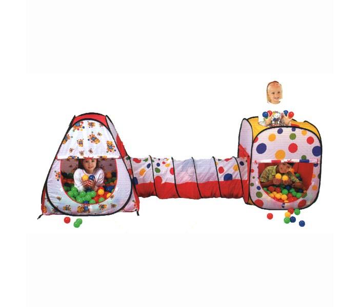 Calida Дом-палатка + 200 шаров (конус+квадрат+туннель)