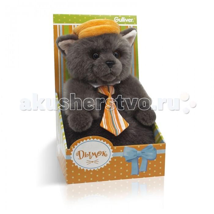 Мягкие игрушки Gulliver Котик Дымок в картузе и с галстуком 24 см