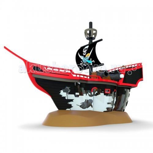 Интерактивная игрушка Море чудес Пиратский корабль с рыбкой-акробатомПиратский корабль с рыбкой-акробатомИгровой набор содержит необычный аквариум в виде интерактивного пиратского корабля, в трюме которого плавает рыбка-акробат Акула. У пиратского корабля поднимается парус, пушки корабля могут заряжаться и стрелять черепами. На палубе корабля расположены штурвал и бочка с провиантом, которая может переворачиваться. А за штурвалом корабля и на мачте разместилась его команда - скелеты.  Игрушечная роборыбка работает от батареек и может плавать в воде. Рыбка-акробат очень реалистично плавает и ныряет. Траектория движения рыбки-акробата зависит от наклона её хвоста. Перед тем, как выпустить рыбку-акробата в воду, установите ей необходимый угол наклона хвоста. Если хвост установить ровно, то рыбка станет плавать практически по-прямой, если придать хвосту наклон, то игрушечная рыбка станет плавать по случайной траектории.  Вид рыбки в наборе - в ассортименте  Состав игрового набора: рыбка-акробат - 1 шт. (в ассортименте) аквариум пиратский корабль - 1 шт. подставка для корабля - 1 шт. аксессуары  Длина рыбки (см): 12 Размер пиратского корабля (см): 50 х 25 х 35 Объём аквариума (л): 5<br>