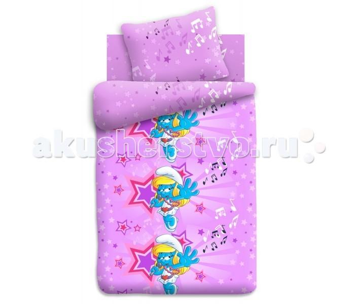 Постельное белье 1.5-спальное Непоседа Смурфики Звезда 1.5-спальное (3 предмета)