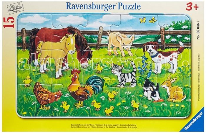 Ravensburger Пазл Животные на лугу 15 элементов