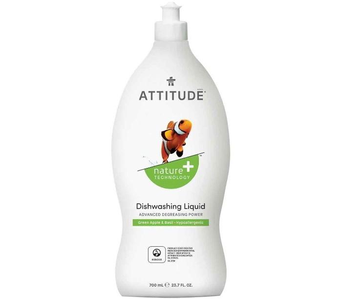 Attitude Средство для мытья посуды Зеленое яблоко/Базилик 700 мл