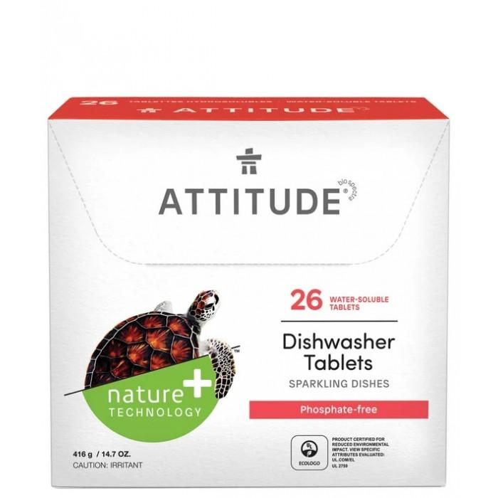 Моющие средства Attitude Таблетки для посудомоечных машин All in one 26 шт.
