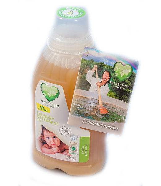 Моющие средства Planet Pure Органическое жидкое средство для стирки детского белья 0.5 л